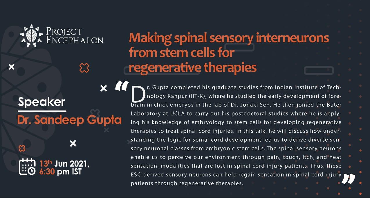 Sandeep gives a talk for Project Encephalon